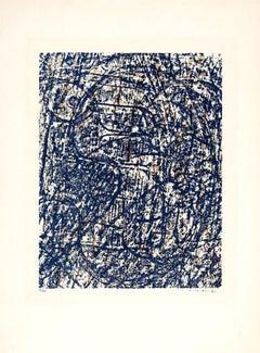 La Foret  Bleu - Original Lithograph by Max Ernst - 1962