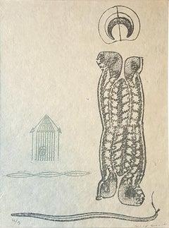 Lewis Carroll's Wunderhorn - Original Lithograph by Max Ernst - 1970