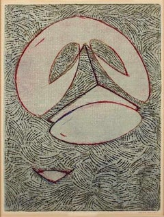Masque - Original Lithograph by Max Ernst - 1975