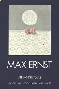"Max Ernst-Alexandre Iolas-33.25"" x 22""-Poster-1971-Surrealism-Blue"