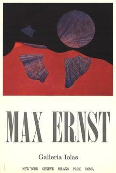 "Max Ernst-Galleria Iolas-31.5"" x 21""-Poster-Surrealism-Red, Purple"