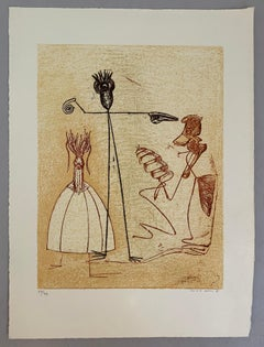 Max Ernst, signed color lithograph, Festine edition