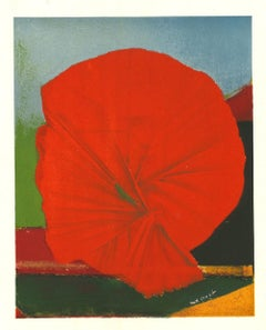 Red Flower - Original Lithograph by Max Ernst - 1957