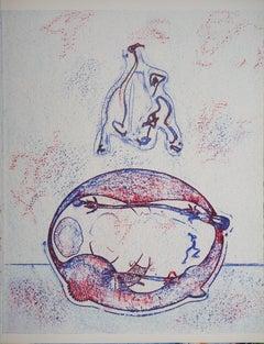 Surrealist Composition - Original Lithograph (Leppien/Spies #202B), 1971