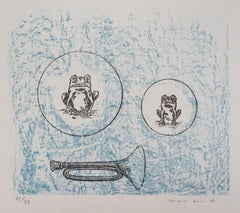 Two Frogs - Original Lithograph Handsigned and limited 79 copies - Mourlot 1972