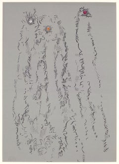 "Untitled - From ""Les Chiens ont soif"" - Original Lithograph by Max Ernst - 1964"