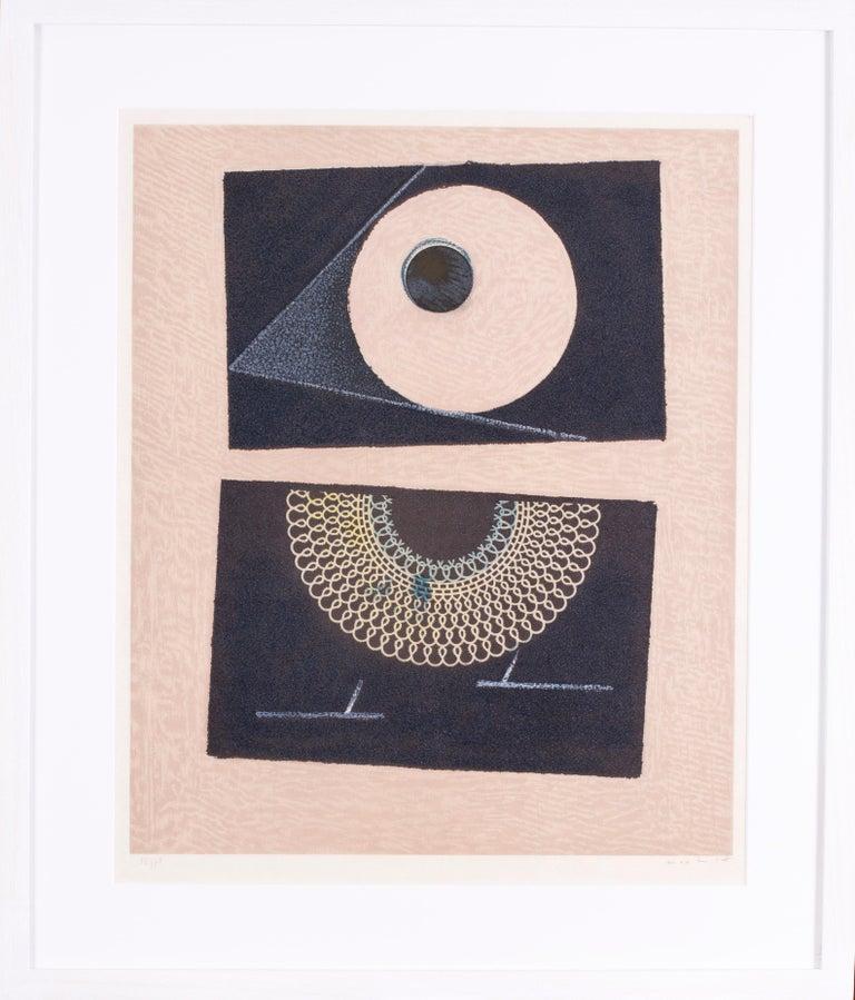 Max Ernst Abstract Print - Veilleuse au Seuil de Nos Terrassements Dent Prompte VI