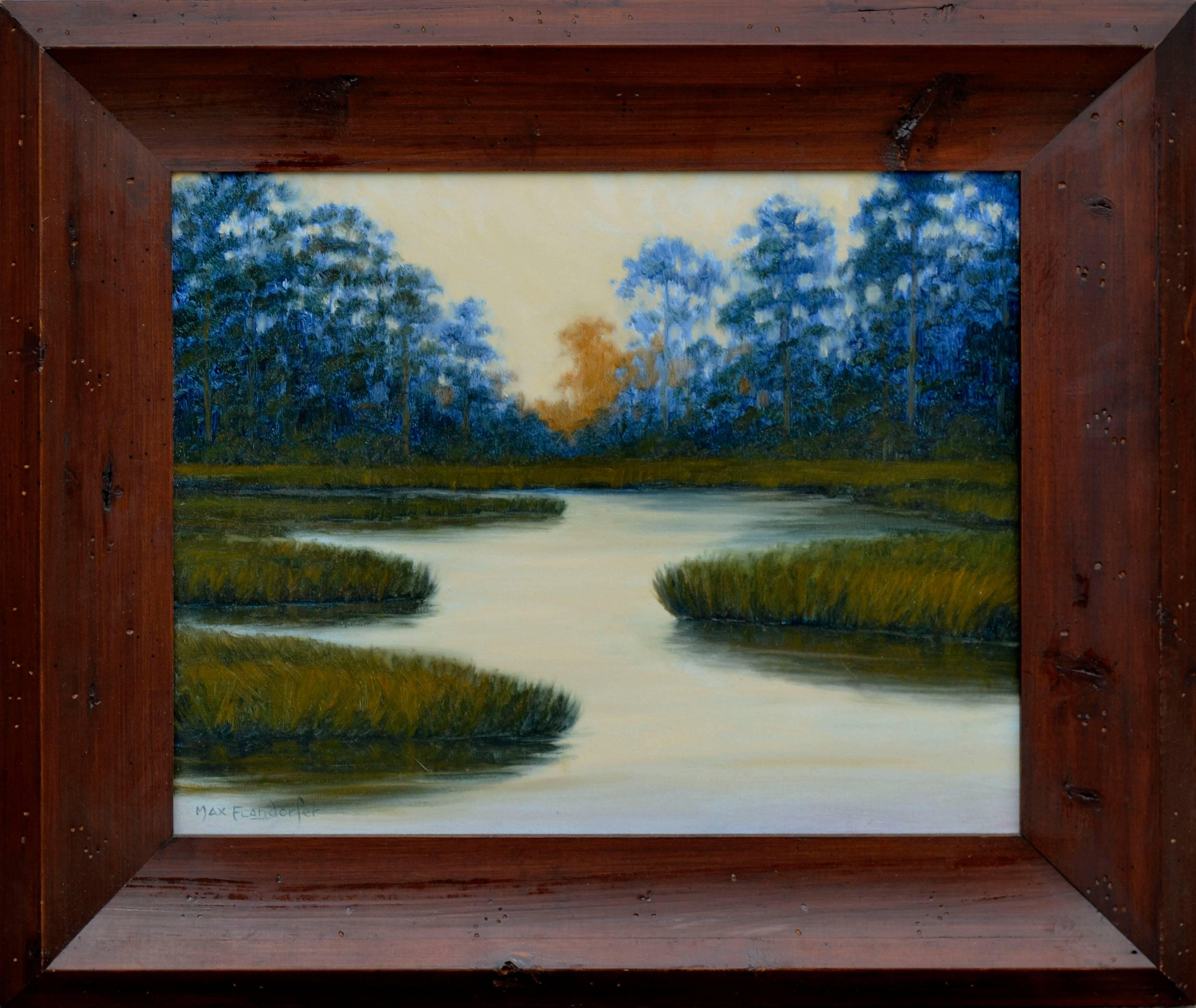 """""""Back Bay Sunset"""" - Calm Waters Landscape"""