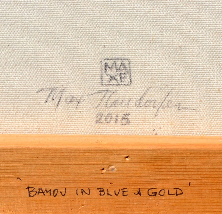 Bayou in Blue & Gold For Sale 1