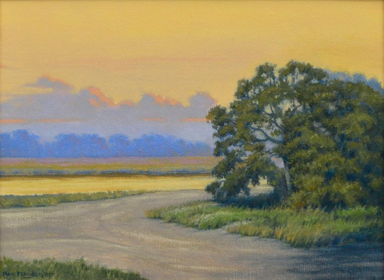 Days of Gold Plein Air Landscape  - Painting by Max Flandorfer