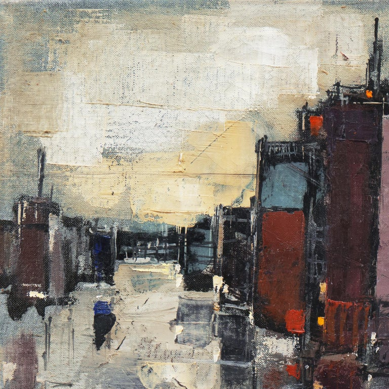 'Abstracted Cityscape', Modernist Abstract Oil from David Rockefeller Estate For Sale 2