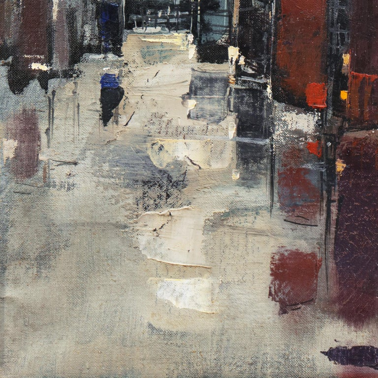 'Abstracted Cityscape', Modernist Abstract Oil from David Rockefeller Estate For Sale 3