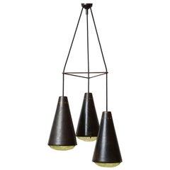 Max Ingrand '2126' Model 3-Light Ceiling Pendant for Fontana Arte, Italy
