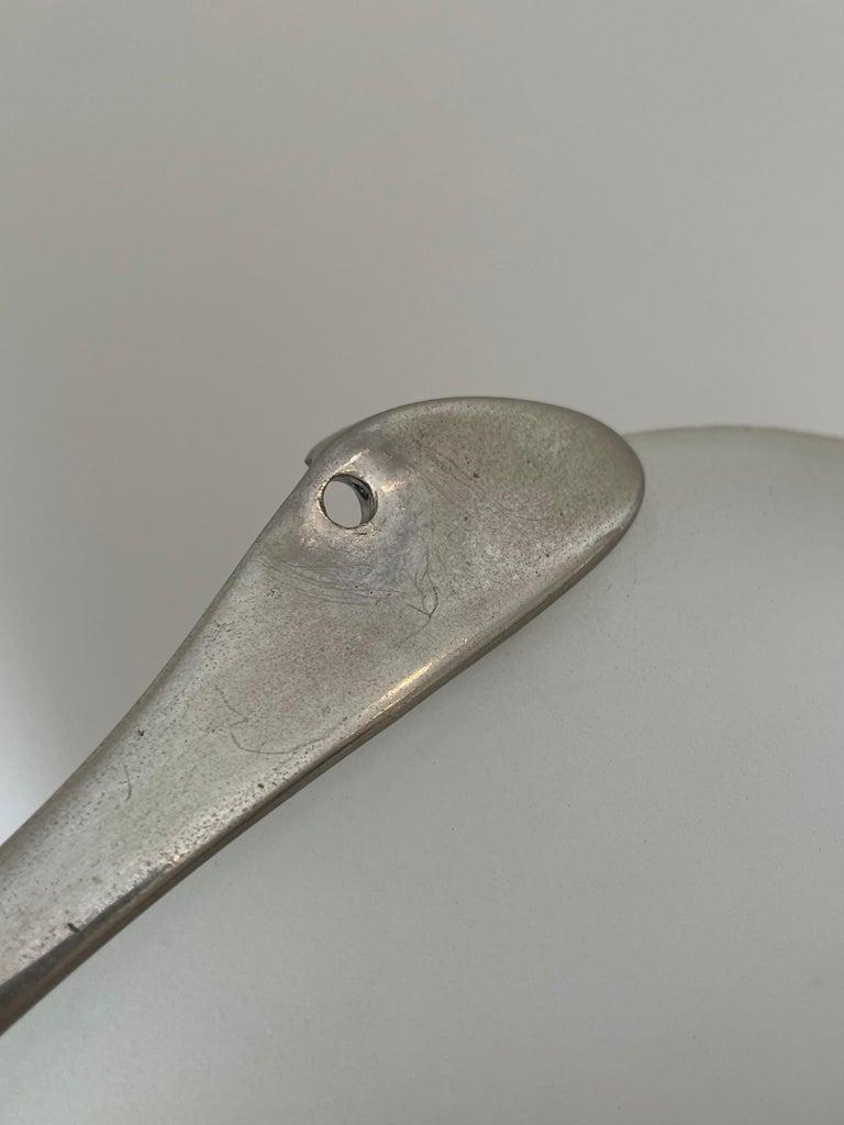 Max Ingrand Fontana Arte Mod.1552 Pair Wall Lights Glass Nickeled Brass 1965 For Sale 5