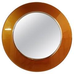 Max Ingrand for Fontana Arte Circular Glass Framed Mirror, Model 2383, Italy