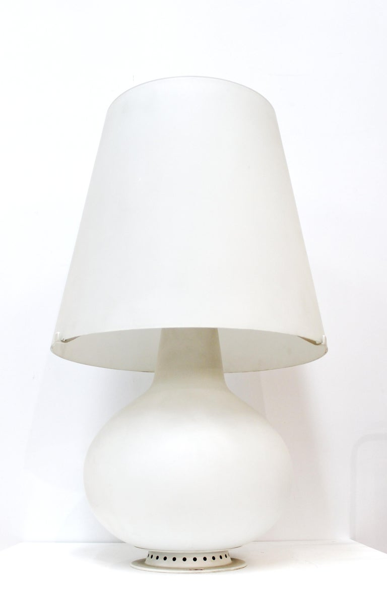 20th Century Max Ingrand for Fontana Arte Italian Modern Glass Table Lamp For Sale