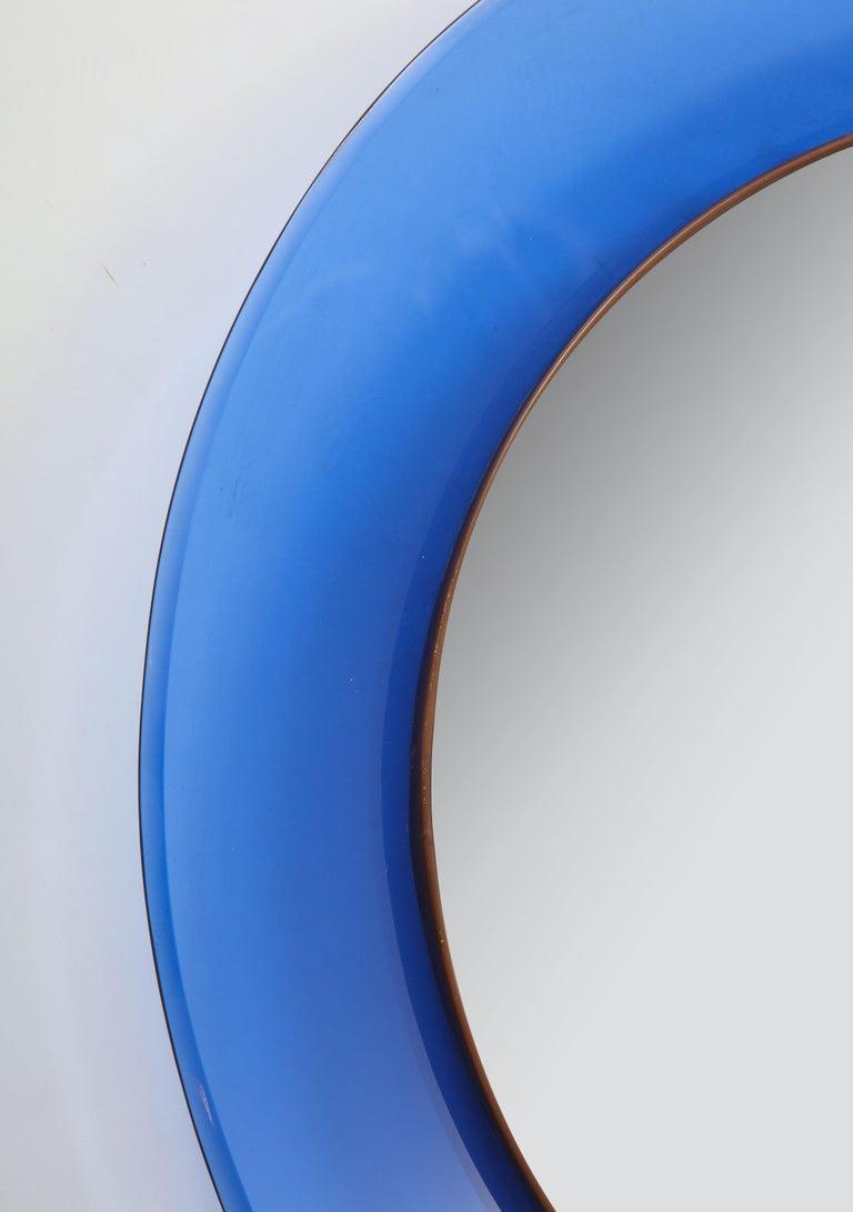 Italian Max Ingrand for Fontana Arte Blue Mirror Model 1669 For Sale