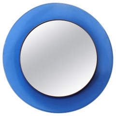 Max Ingrand for Fontana Arte Blue Mirror Model 1669