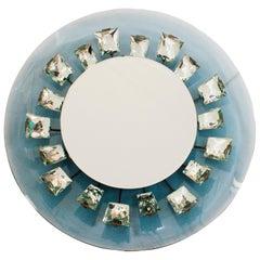 Max Ingrand for Fontana Arte Model 2044, Illuminated Glass Italian Mirror, 1960s