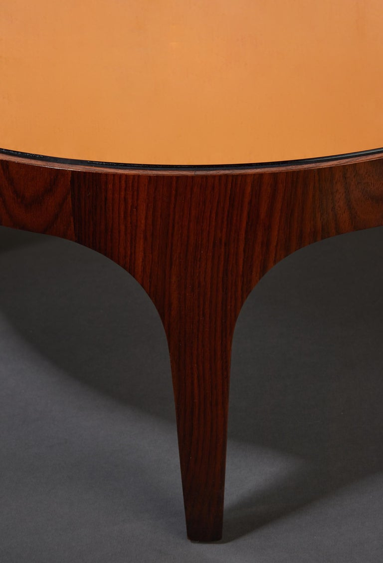 Max Ingrand for Fontana Arte Rosewood Coffee Table with Mirrored Top, Italy 1960 For Sale 4