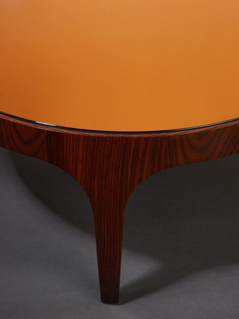 Max Ingrand for Fontana Arte Rosewood Coffee Table with Mirrored Top, Italy 1960 For Sale 5