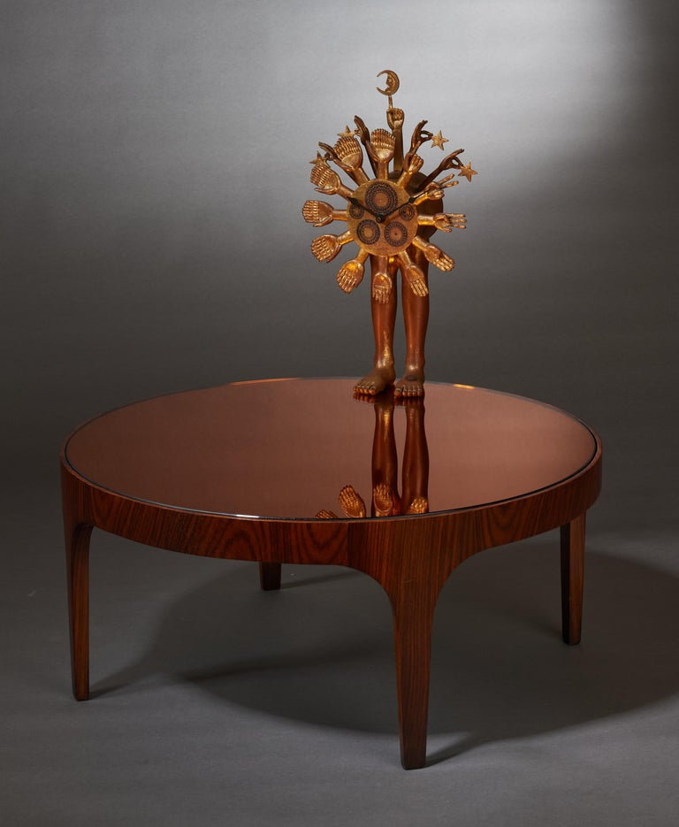 Max Ingrand for Fontana Arte Rosewood Coffee Table with Mirrored Top, Italy 1960 For Sale 7
