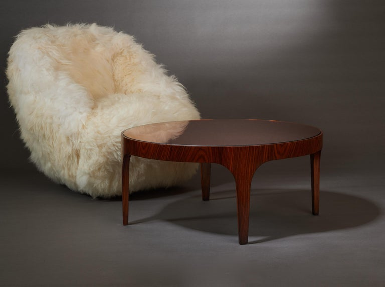 Max Ingrand for Fontana Arte Rosewood Coffee Table with Mirrored Top, Italy 1960 For Sale 9