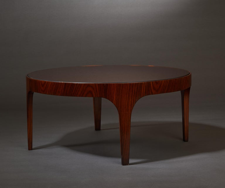 Max Ingrand for Fontana Arte Rosewood Coffee Table with Mirrored Top, Italy 1960 For Sale 1