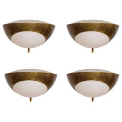 Max Ingrand for Fontana Arte Rare Pairs of Large Sconces Model 1963