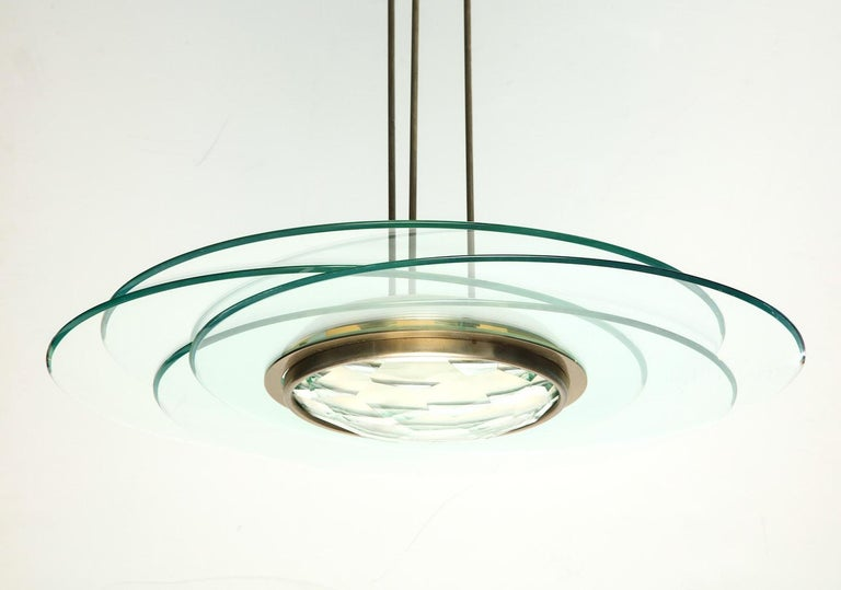 Mid-Century Modern Max Ingrand Hanging Light For Sale