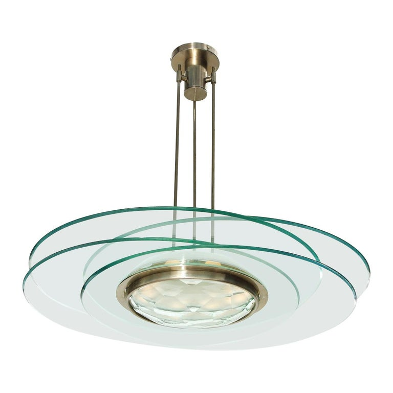 Max Ingrand Hanging Light For Sale