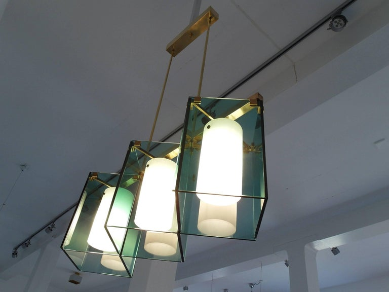 Max Ingrand Large Chandelier for Fontana Arte, Model 2128, Italy, 1964 For Sale 4