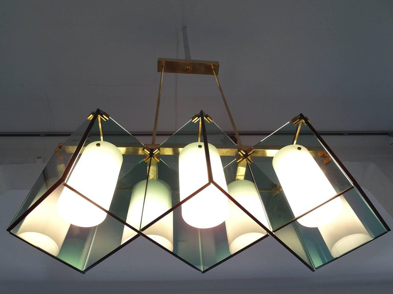 Max Ingrand Large Chandelier for Fontana Arte, Model 2128, Italy, 1964 For Sale 5