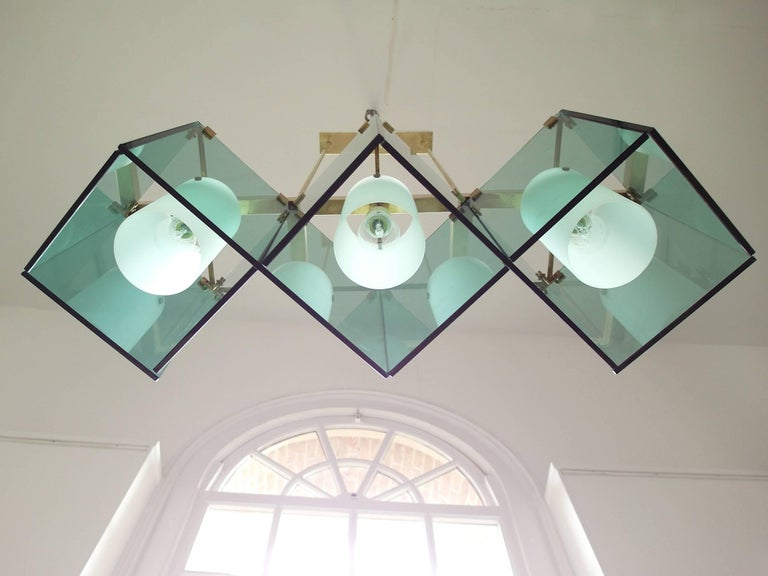 Max Ingrand Large Chandelier for Fontana Arte, Model 2128, Italy, 1964 For Sale 9