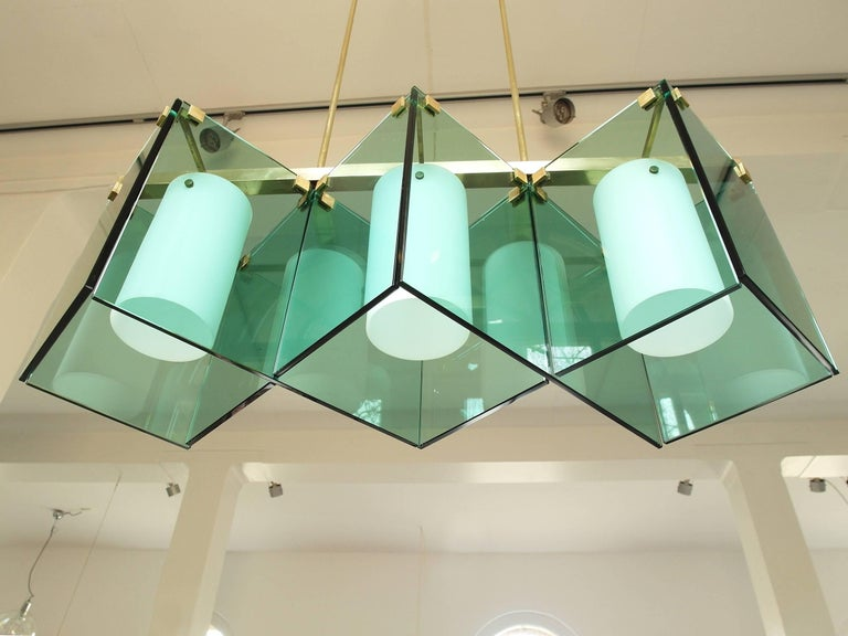 Mid-20th Century Max Ingrand Large Chandelier for Fontana Arte, Model 2128, Italy, 1964 For Sale