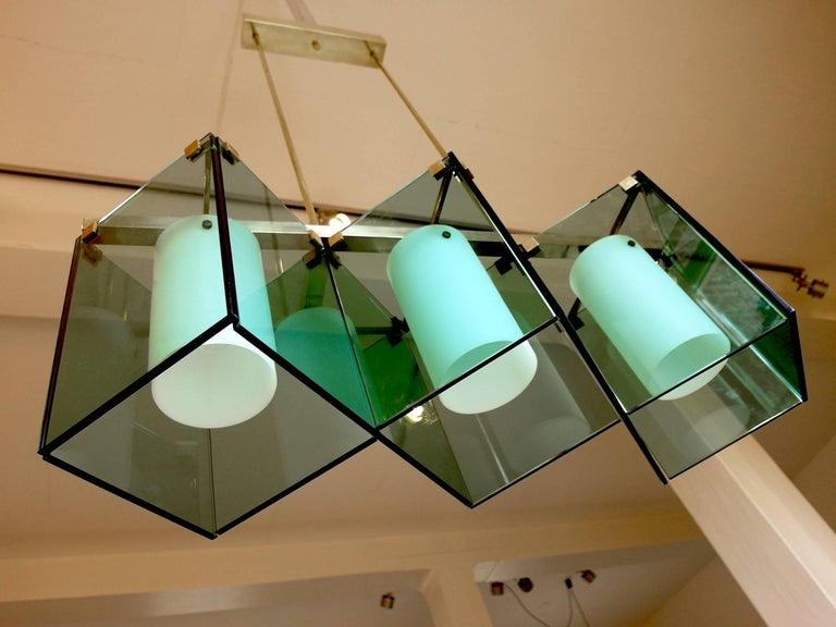 Max Ingrand Large Chandelier for Fontana Arte, Model 2128, Italy, 1964 For Sale 8