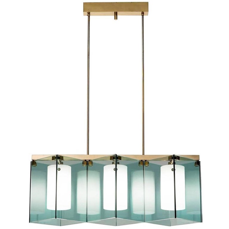 Max Ingrand Large Chandelier for Fontana Arte, Model 2128, Italy, 1964 For Sale