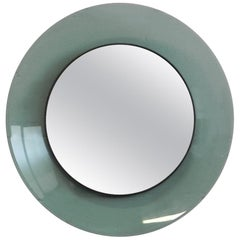 Max Ingrand Mirror for Fontana Arte with Green Glass Surround