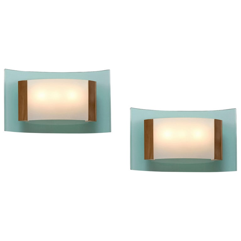 Max Ingrand Rare Pair of Sconces Model 2213 For Sale