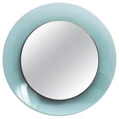 Max Ingrand Round Blue Mirror Fontana Arte Model 1699