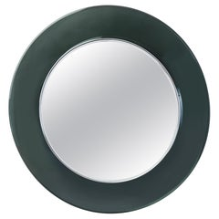 Max Ingrand Round Colored Glass Mirror, 1960s