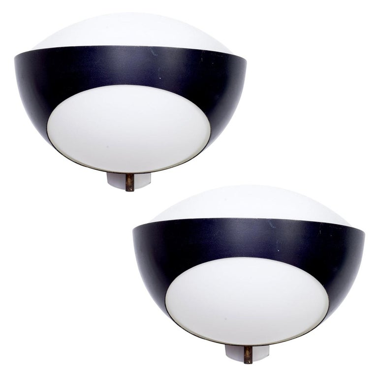Max Ingrand Sconces for Fontana Arte, Italy 1960s For Sale