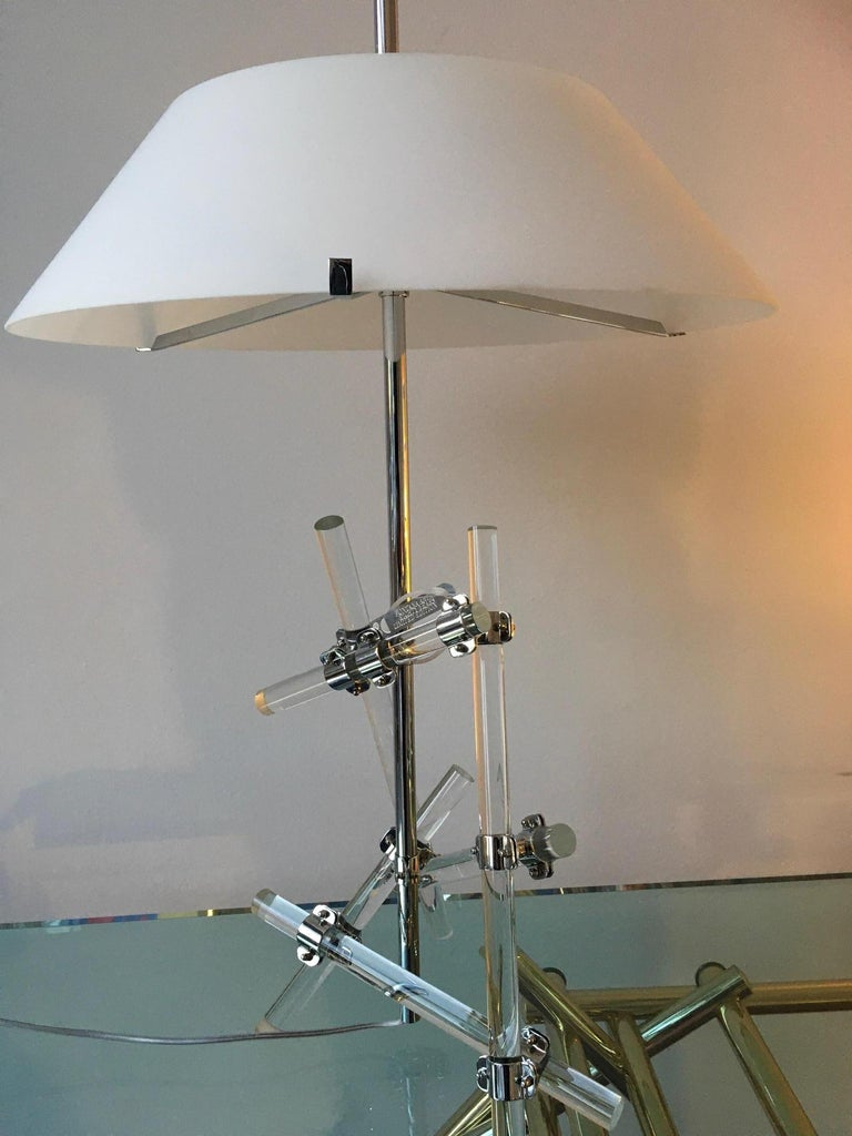 Max Ingrand Table Lamp Model Ashangai Fontana Arte, Italy In Excellent Condition For Sale In Milan, Italy