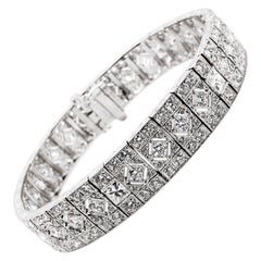 Natural Diamonds 10.63 Carat Platinum Bracelet