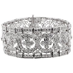 Platinum 950 Bracelet with Round Natural Diamonds 18.38 Carat