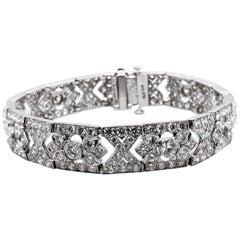 Max Jewelry Retro Round Natural Diamonds 10.17 Carat Platinum 950 Bracelet