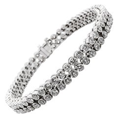 Round Natural Diamonds 8.59 Carat Modern Tennis Platinum Bracelet