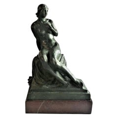 "Max Kalish, ""Anna"", Seated Nude Patinated Bronze Sculpture, 1934"