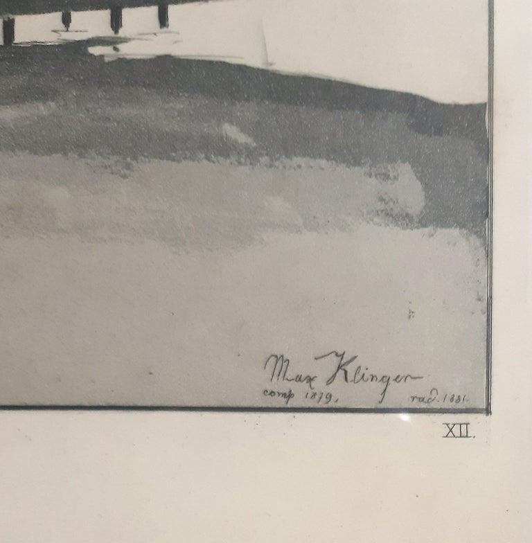 Amor, Tod und Jenseits - Original Etching by M. Klinger - 1881 - Print by Max Klinger