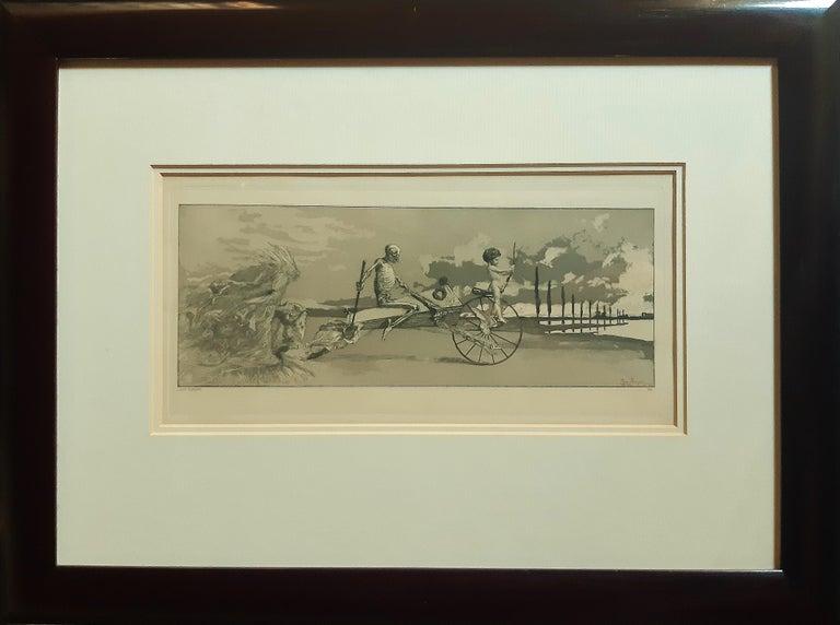 Amor, Tod und Jenseits - Original Etching by M. Klinger - 1881 - Symbolist Print by Max Klinger